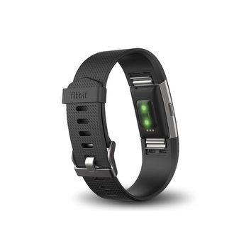Fitbit Charge 2 Heart Rate + Fitness Wristband, Black, Large (US Version)