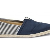 University Navy Rope Sole Classics | TOMS.com