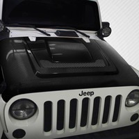 2007-2016 Jeep Wrangler Carbon Creations Heat Reduction Hood - 1 Piece