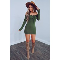 Forever With You Dress: Olive