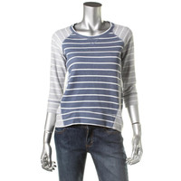 Style & Co. Womens Petites Cotton Striped Sweatshirt