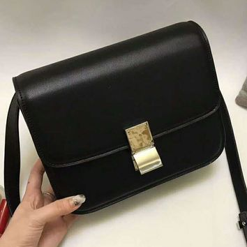 Celine Trending Leather Shoulder Bag Crossbody Satchel For Women Black G-QS-MP-JZLB