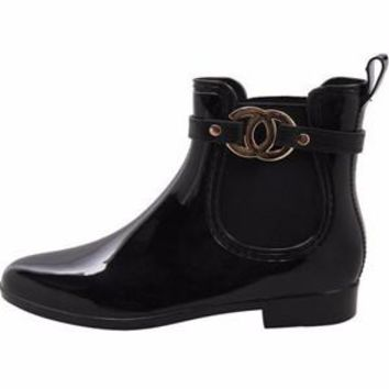 Chanel Inspired Rain Boots