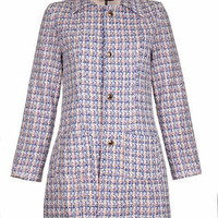 **Sorbone Tweed Pea Coat by Sister Jane - Lilac