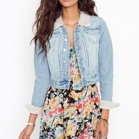 Wandered Denim Jacket in Clothes Outerwear Jackets at Nasty Gal
