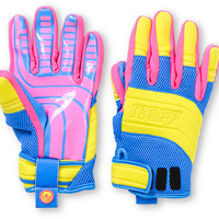 Neff Rover Blue, Pink & Yellow 2013 Pipe Snowboard Gloves at Zumiez : PDP