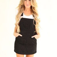 MOON CHILD OVERALL DRESS- BLACK
