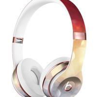 Red and Gold Unfocused Glowing Orbs Full-Body Skin Kit for the Beats by Dre Solo 3 Wireless Headphones