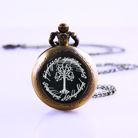 The Lord or rings Watch , White Tree Of Gondor ,Movies Necklace, Watch Movie Gift Vintage Women Jewelry