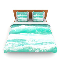"Monika Strigel ""Maui Waves"" Teal Green Lightweight Duvet Cover"