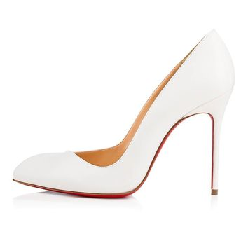 Christian Louboutin Cl Corneille Latte Leather 12s Bridal 3161137wha8 -