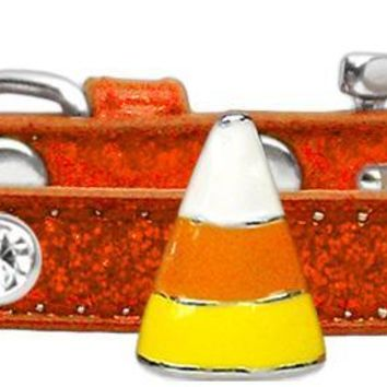 Candy Corn Charm Dog Collar Orange Ice Cream Size 8