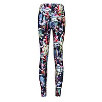 Jeggings Digital Printing Slim Nightmare Before Christmas Leggings Women Fitness Panst Fashion Trousers