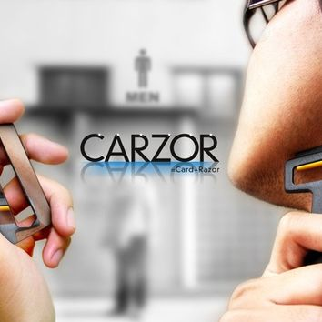INFMETRY:: Carzor-Card Shaped Razor & Mirror