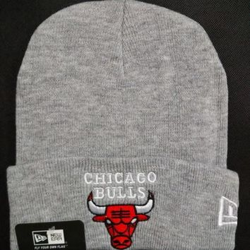 Chicago bulls Women Men Embroidery Beanies Knit Hat Cap-4