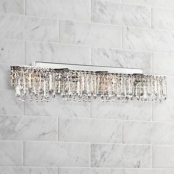 "Possini Euro Design Hanging Crystal 33 3/4"" Wide Bath Light - #U5027 