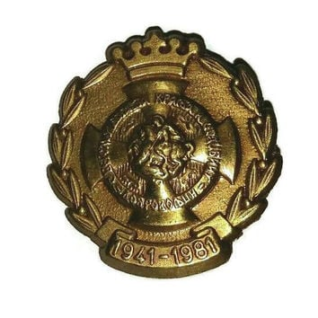 Vintage War VETERAN MILITARY Medal Badge of Honor Service Pin Brooch STEAMPUNK Militaria Collectible Broach Army Steam Punk Jewelry Gift Men