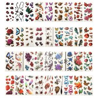 36 Sheets 3D Waterproof Temporary Tattoos For Women Girl Body Art Sleeve DIY Stickers Glitter Tattoo Beauty Exotic