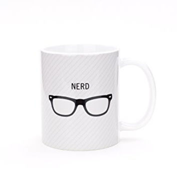 Nerd Glasses - Ceramic Coffee Tea Mug - 11-oz