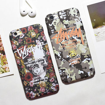 Iphone 6/6s iPhone7/7plus Cute Hot Deal On Sale Stylish Camouflage Iphone Noctilucent Matte Couple Phone Case [9077380228]