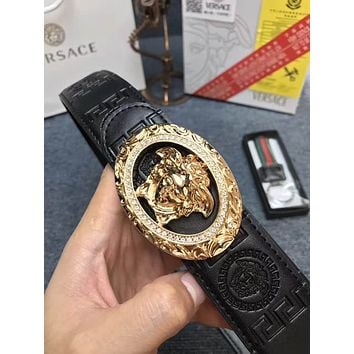 versace mens medusa belt