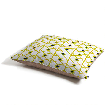 Heather Dutton Annika Diamond Citron Pet Bed