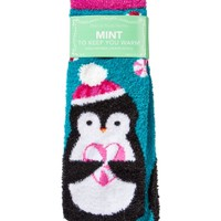 Shea-Infused Lounge Socks Mint To Keep You Warm