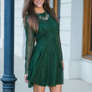 Sassy Flash Dress, Olive