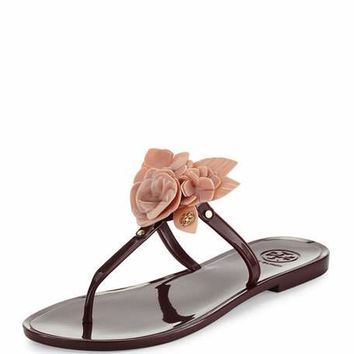 Tory Burch Blossom Flat Jelly Thong Sandal