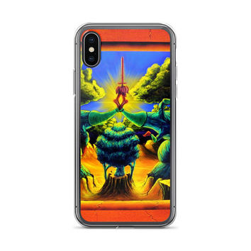 Trippy surreal ALL sizes iPhone Cases Weapons of Choice by Vincent Monaco available for ALL iPhone models.
