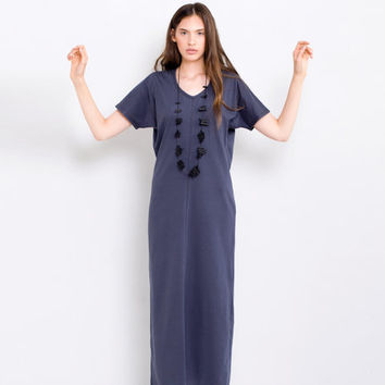 Women's Dark Slate Blue Maxi Dress