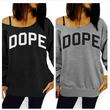 Autumn Long Sleeve Stylish Print Alphabet Cotton Hoodies Jacket [4962089796]