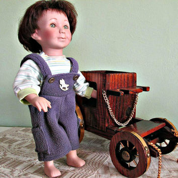 Unique Vintage Baby Boy Porcelain Doll, Collectible Doll, Baby Doll. Boy Doll, Home Decor