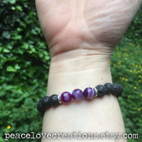 Essential Oil Diffuser Stretch Bracelet~Ready to Ship~FREE SHIPPING