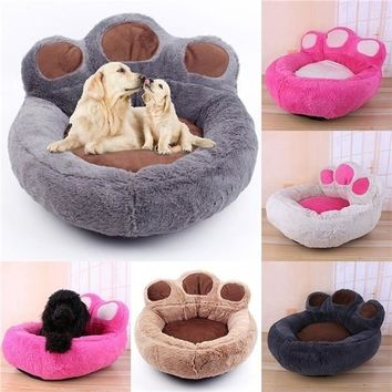 Pets mats / Beds Bear's Paw Pet Dog Cat Bed House Soft Warm Kennel Nest Snuggly Pet Sleep Mat Sofa Teddy Doghouse for Small Dog