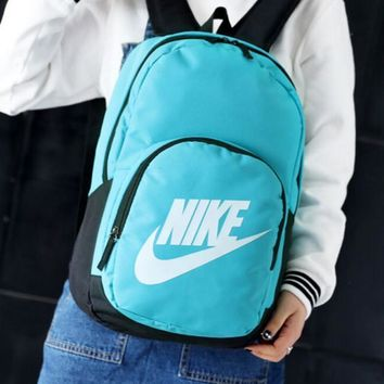 NIKE Leisure and fashion sports double shoulder backpacking primary high school college student bag wear-resistant nylon outdoor travel backpacks-1