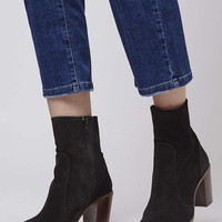 MAGNIFICENT Suede Sock Boots - Topshop