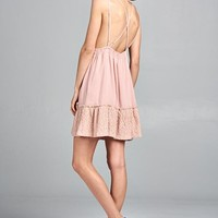 Blush Open Back Dress