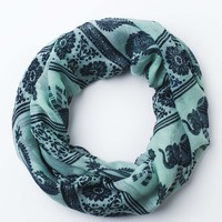 Ethnic Teal Elephant Scarf - Accessories - Earthbound Trading Co.