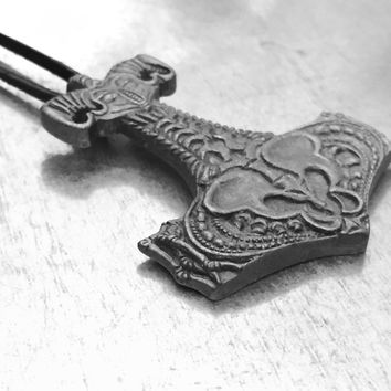 Thor's Hammer, Protection Necklace, Thor Jewelry, Sci-Fi Necklace,  Mjolnir Hammer