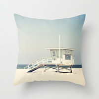 Hermosa Beach  Throw Pillow by Bree Madden