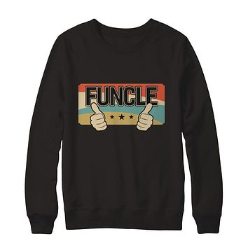 Vintage Retro Funcle Funny Uncle Only Cooler