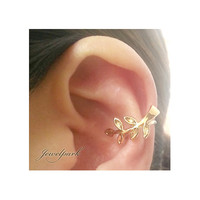 Leaves Branch Warp Ear Clip On Cuff Earring 1pcs