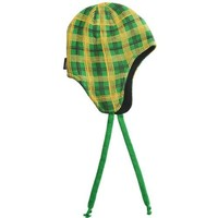 Jacob Ash Attaboy Edge Plaid Flap Hat - Fleece Lining (For Men and Women) - KELLY GREEN