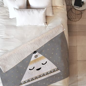 Elisabeth Fredriksson Little Tipi Fleece Throw Blanket