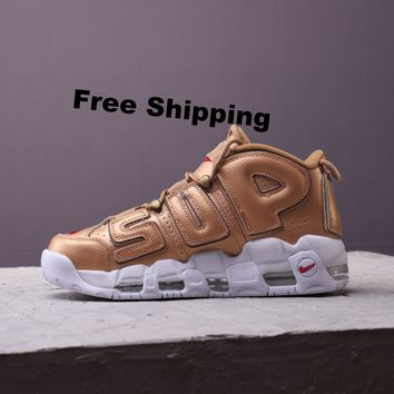 "[ Free  Shipping ]  Air More Uptempo ""Supreme Suptempo 902290-700  Basketball Sneaker"