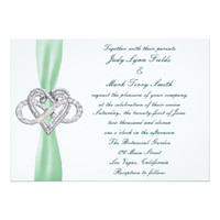 Green Infinity Heart Wedding Collection