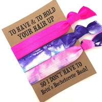 Bachelorette Hair Tie Favor // Custom Bachelorette Party Favor - Hair Tie Bracelet Favor - To Have and To Hold Your Hair Up