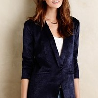Crushed Velvet Blazer by Capulet Navy