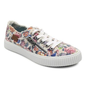 Coyote - Low Top Womens Sneaker With Side Zipper | Blowfish Malibu